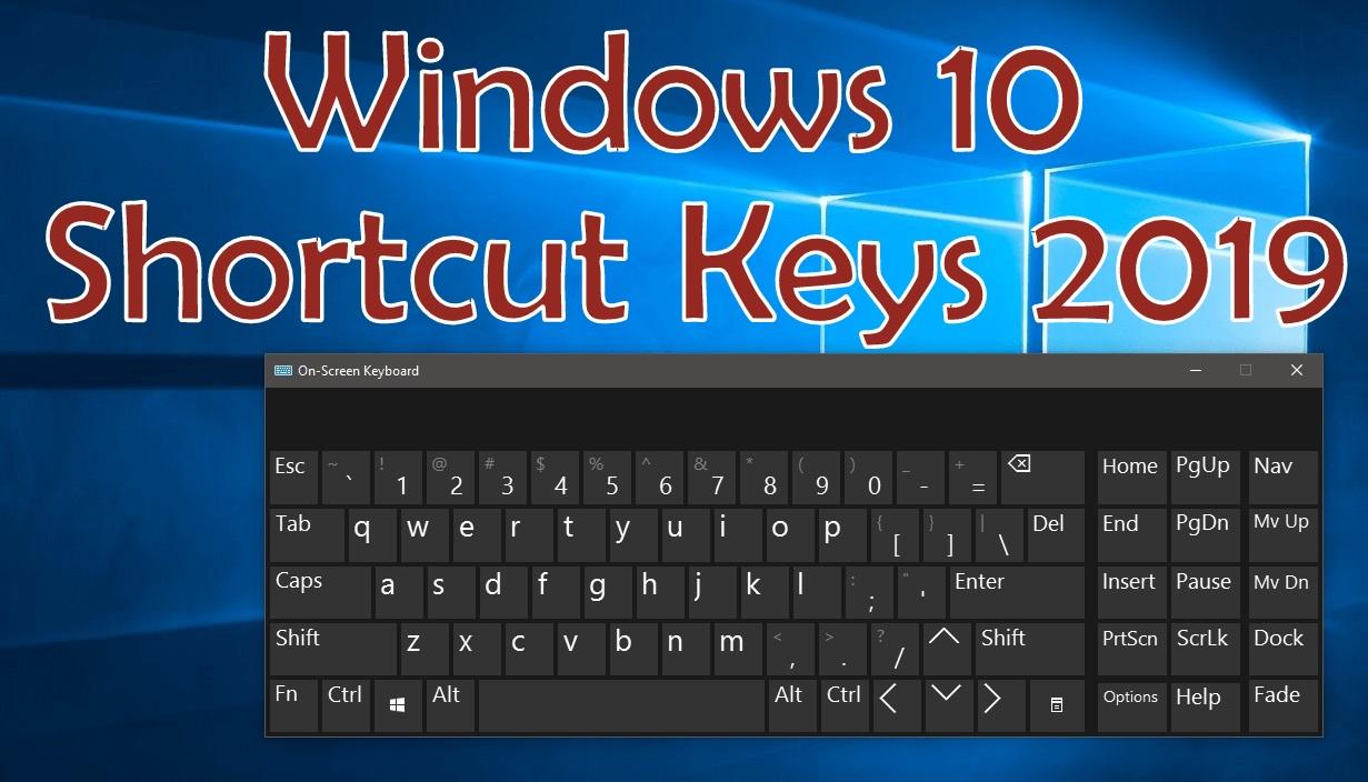 74 Best Windows 10 Shortcut Keys 2019  | AxeeTech