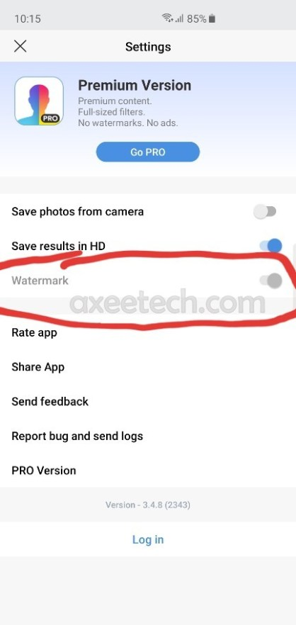How to enable FaceApp Watermark toggle