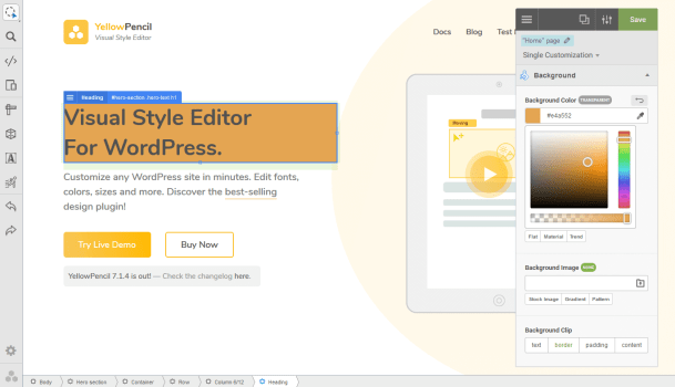 Yellow Pencil Visual CSS Style Editor