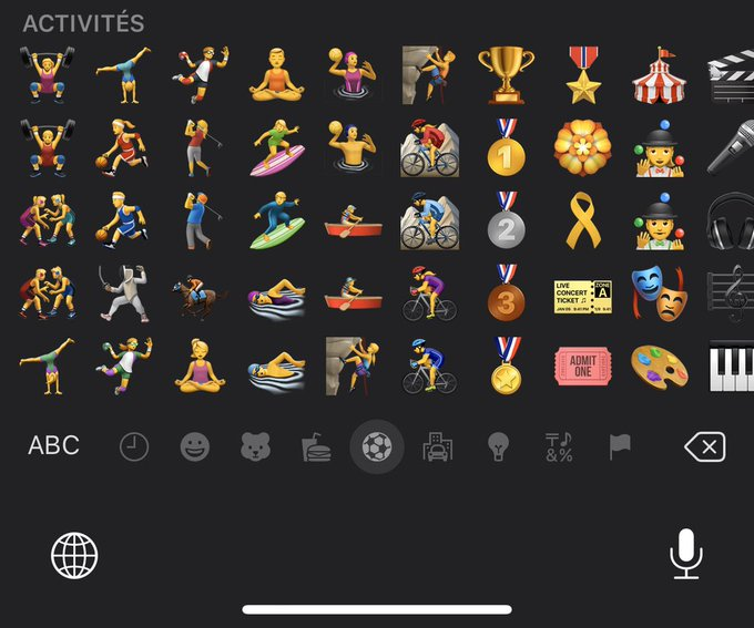 iOS 13 Beat 4 Emojis