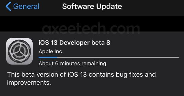 iOS 13 Beta 8 ipsw Download Link Iphone