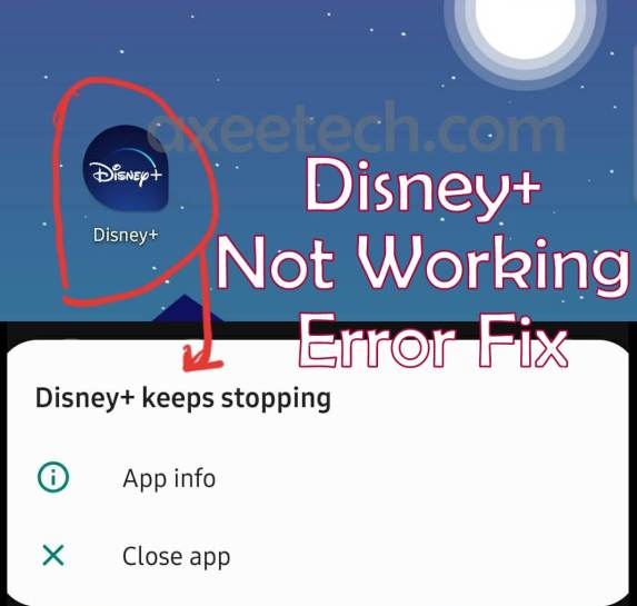 Disney + Plus Keeps Stopping Error Fix