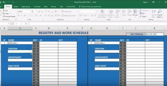 Philippine Payroll Calculator Excel Free Download