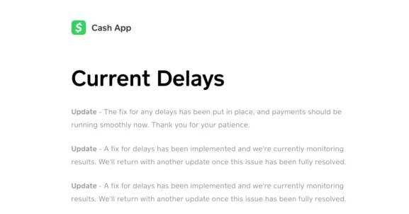 Cash App Pending delay