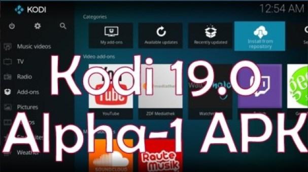 Kodi 190 Alpha1