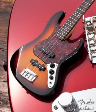 Officially Licensed Miniature Sunburst Fender™ Jazz Bass™ Guitar Replica