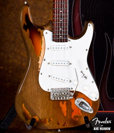 Officially Licensed Miniature Custom Shop Fender™ Strat™ Guitar Replica – Aged