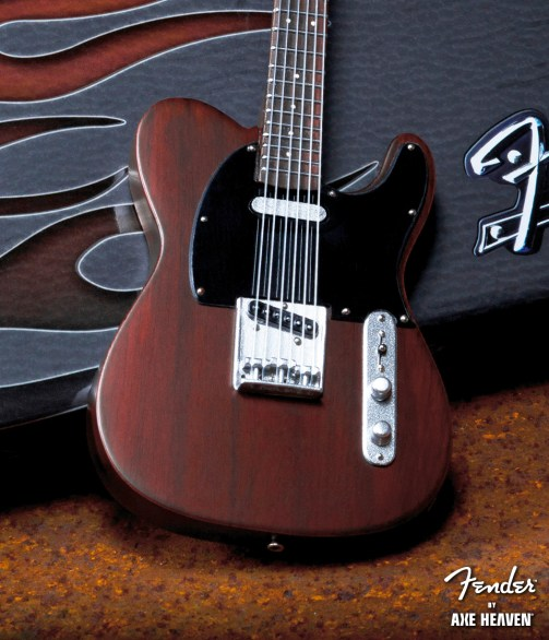 Officially Licensed Miniature Rosewood Finish Fender™ Telecaster™ Guitar Replica