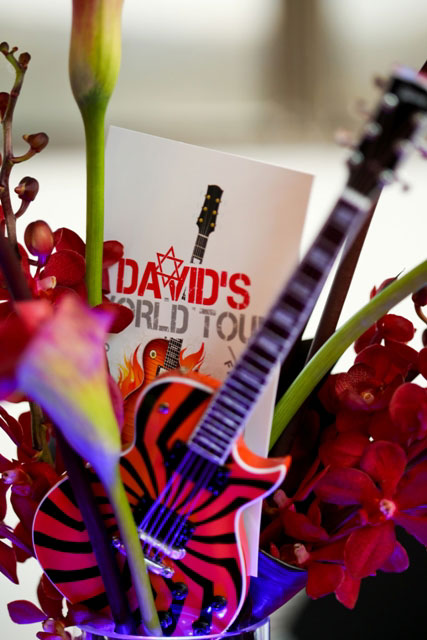 Event Planner Kim Albers Used AXE HEAVEN® Guitars to Decorate This Rock-Themed Bar Mitzvah
