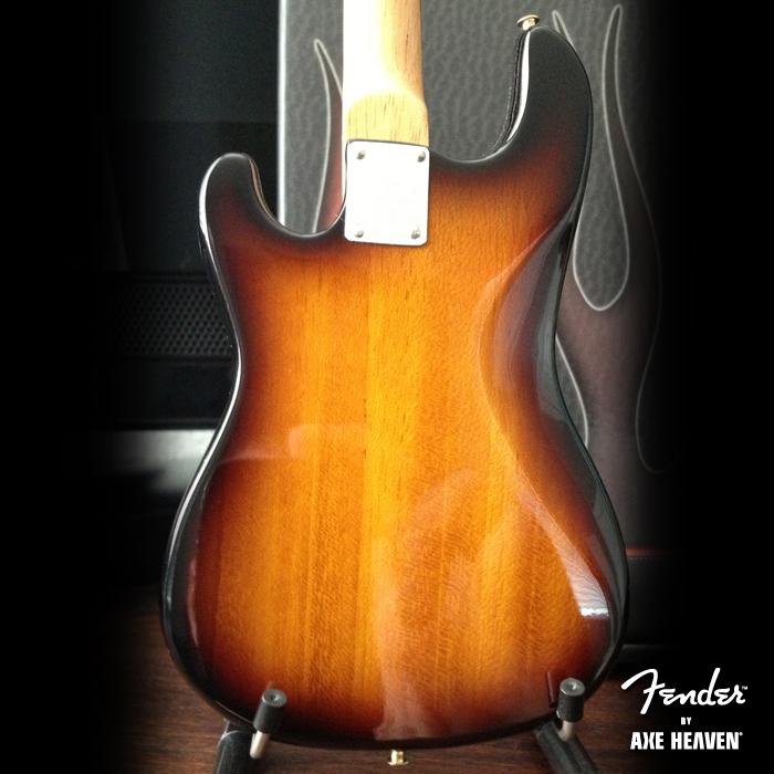 Back of Officially Licensed Miniature Classic Sunburst Fender™ Precision Bass™ Guitar