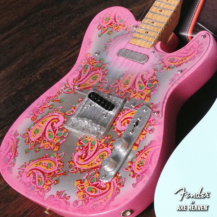 Officially Licensed Miniature Pink Paisley Fender™ Telecaster™ Guitar Replica