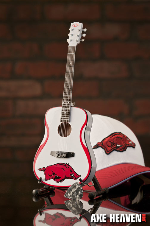 University of Arkansas Razorbacks Miniature Guitar Replica Collectible