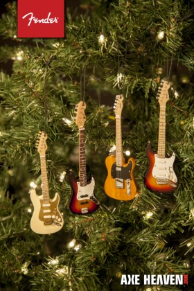 Officially Licensed Fender™ Stratocaster™, Telecaster™, and Jazz Bass™ Guitar Ornaments by AXE HEAVEN®