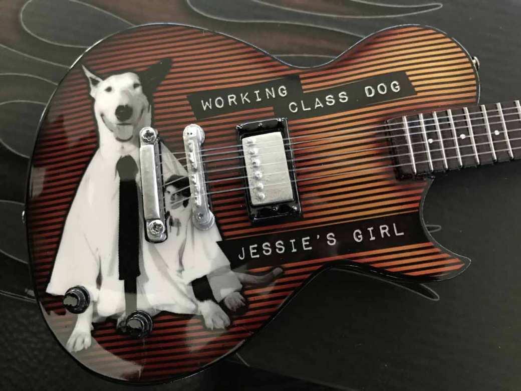 Rick Springfield Custom Promotional Mini Guitar