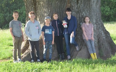 Lola from Spain visited school children in Lindi (Estonia)
