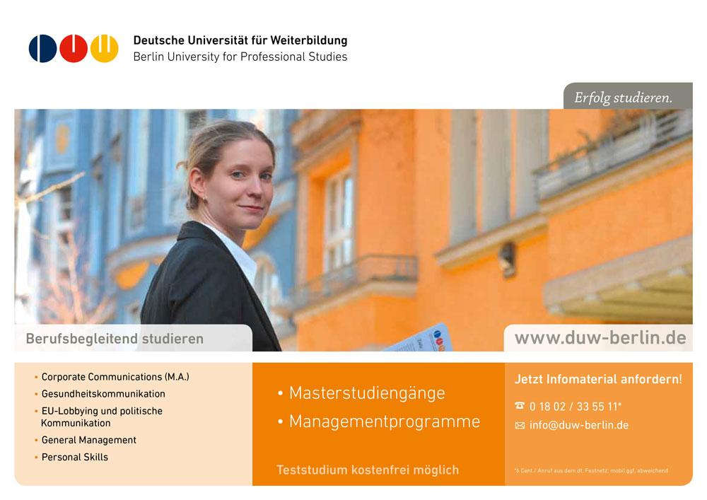 DUW Department Anzeige