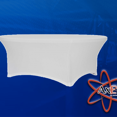 Nappe Ronde Blanche Lycra