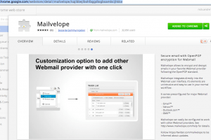Mailvelope in Chrome Web Store