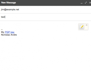 Email with mailvelope icon
