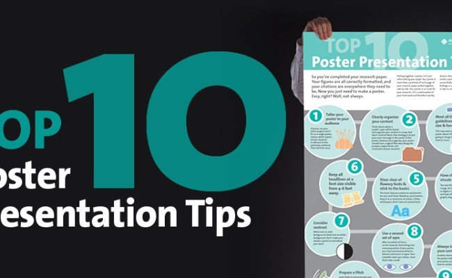 Top 10 Poster Presentation Tips Acs Axial Your Bond