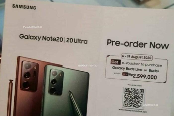 Galaxy Buds Live 將成為 Galaxy Note20 Ultra 預購禮!