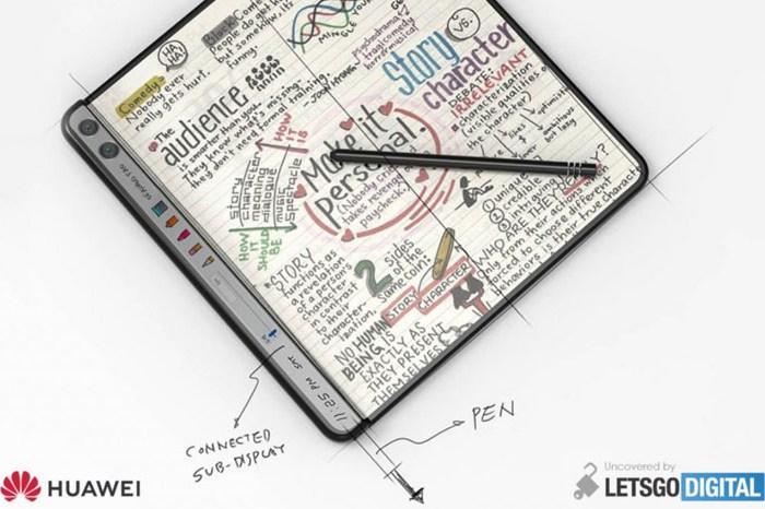 華為全新可摺疊螢幕手機專利曝光:向內摺疊設計,附帶副螢幕與手寫筆功能!