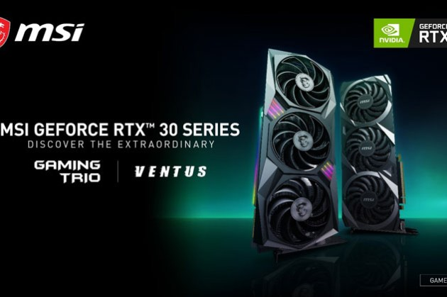 N卡「Ampere 安培」新架構來臨!微星正式發表 MSI GeForce RTX 3090、3080 和3070系列顯示卡!