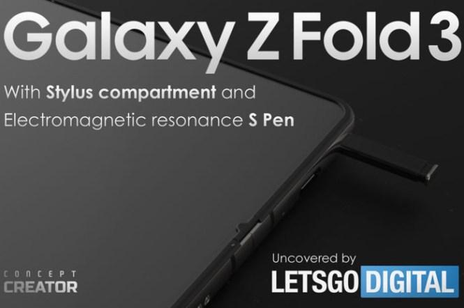 三星新專利再透露 S Pen 如何整合至 Galaxy Z Fold3 !