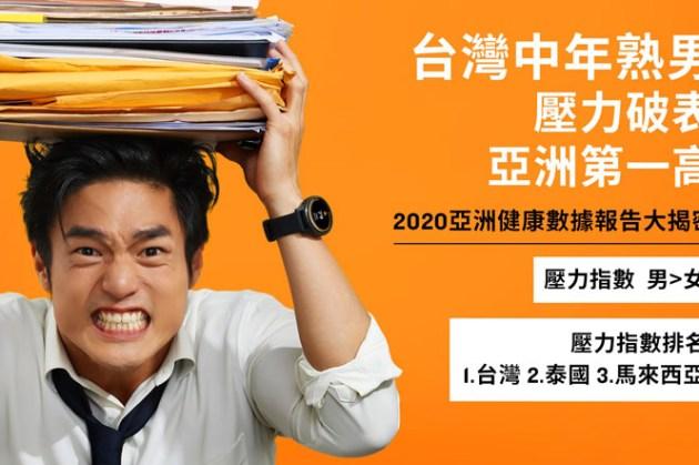 Garmin「2020亞洲用戶健康數據報告」解密三大現象:台灣中年熟男壓力亞洲第一,女性運動時間遠低他國!