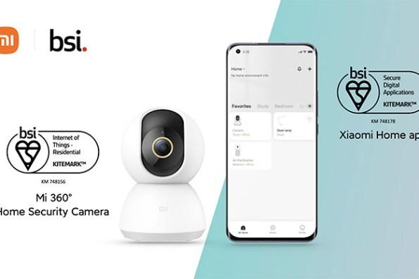 米家智慧攝影機與米家 App 獲《英國標準協會》物聯網 Kitemark 安全認證!