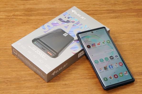 支援 Note10+ 45W 快充!ELECJET PowerPie 20000mAh PD 快充行動電源開箱,iPhone 11 系列、Google Pixel 與筆電都支援快充的行動充電神器!