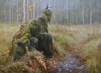 ОЖИДАНИЕ (деревня Алёшино,  Балахнинский район, Нижегородская область) Картина художника, занявшего второе место --   Алексея Аникина из  Дзержинска