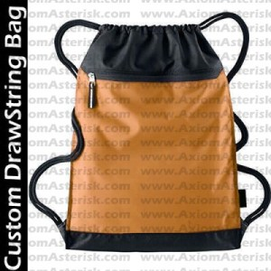 DRAW STRING BAG [ZIP TOP]