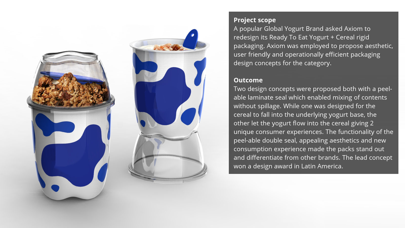 Yogurt  Cereal  Axiom Consulting
