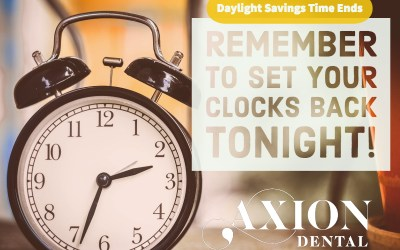 Daylight Savings Time Ends Tonight!