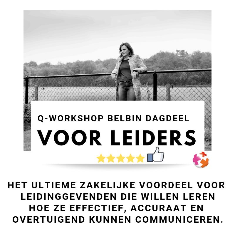 Belbin workshop voor leidinggevenden
