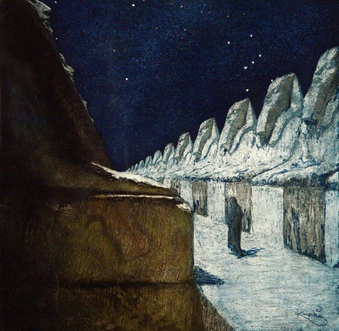 František Kupka, The way of silence (1903).
