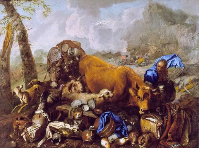 Noahs Sacrifice After The Deluge by Giovanni Benedetto Castiglione
