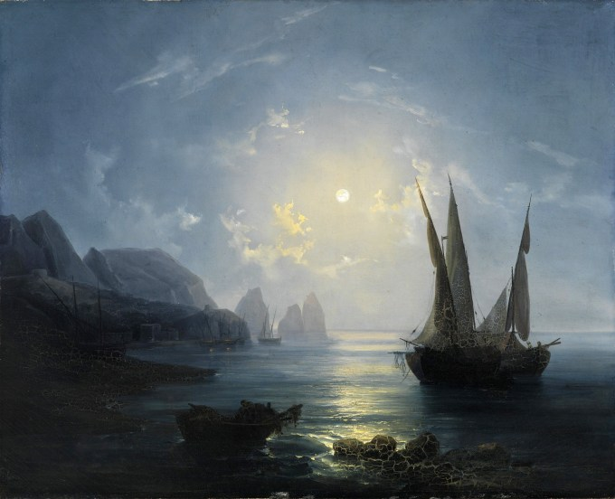 Salvatore Fergola (Italian, 1799-1874), Notturno a Capri:Night in Capri (ca. 1843) Oil on canvas, 107 x 132 cm Napoli, Museo Nazionale di Capodimonte (in sottoconsegna presso Museo