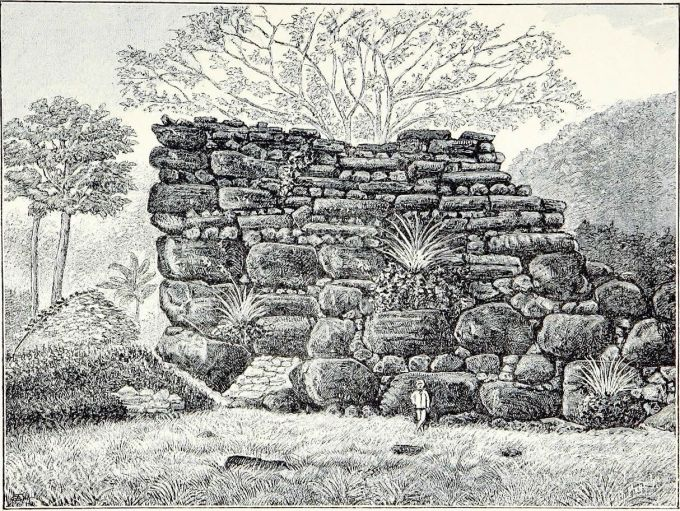 1883 Drawing of Nan Madol from Südsee-Erinnerungen (1875-1880) by Franz Hernsheim .jpg