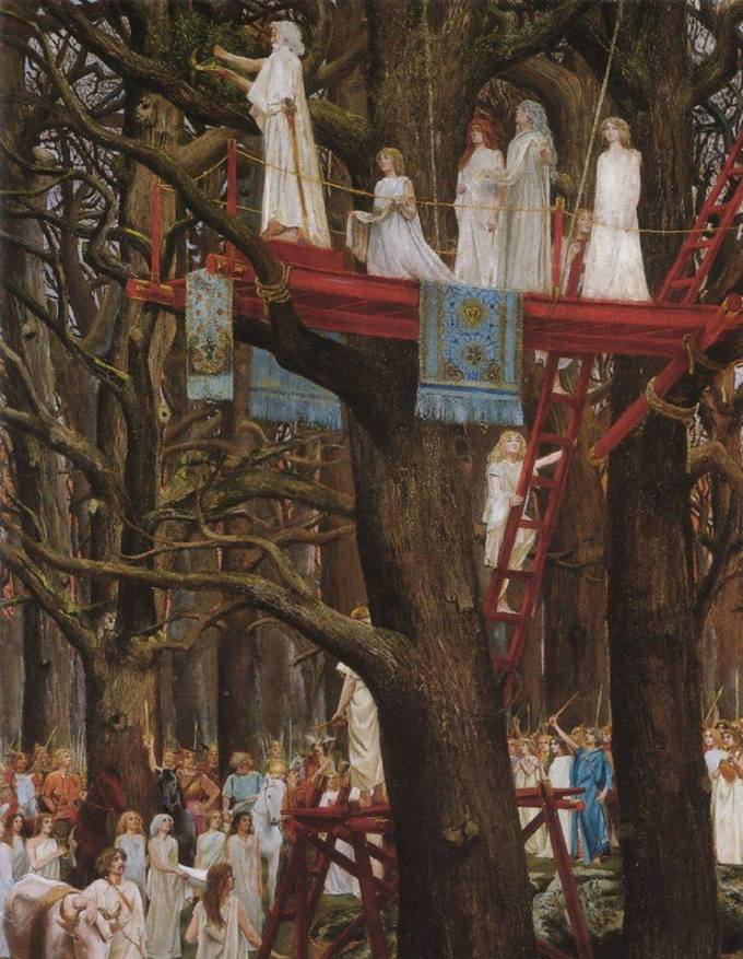 Henri Paul Motte, Druids Cutting the Mistletoe on the Sixth Day of the Moon