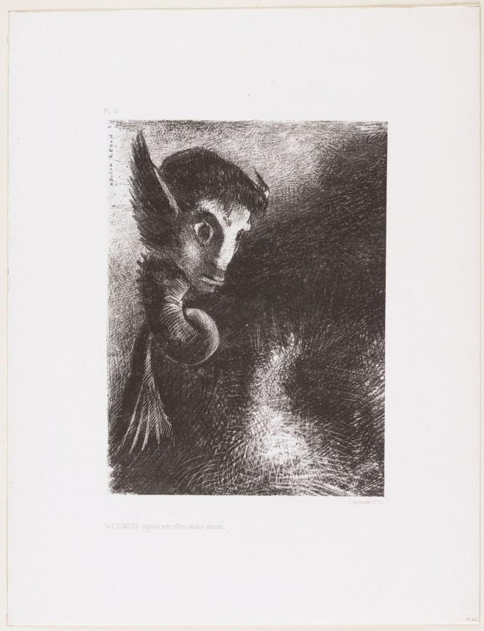 Odilon Redon. The Chimera Regarded All Things with Terror 1886