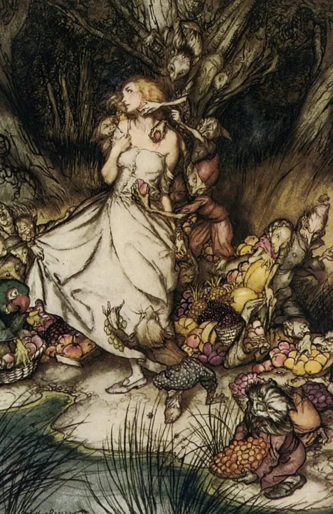 Arthur-Rackham-Goblin-Market-illustration-665x1024