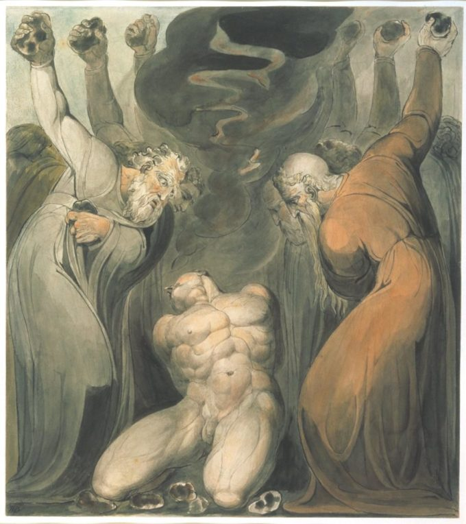 The Blasphemer c.1800 by William Blake 1757-1827