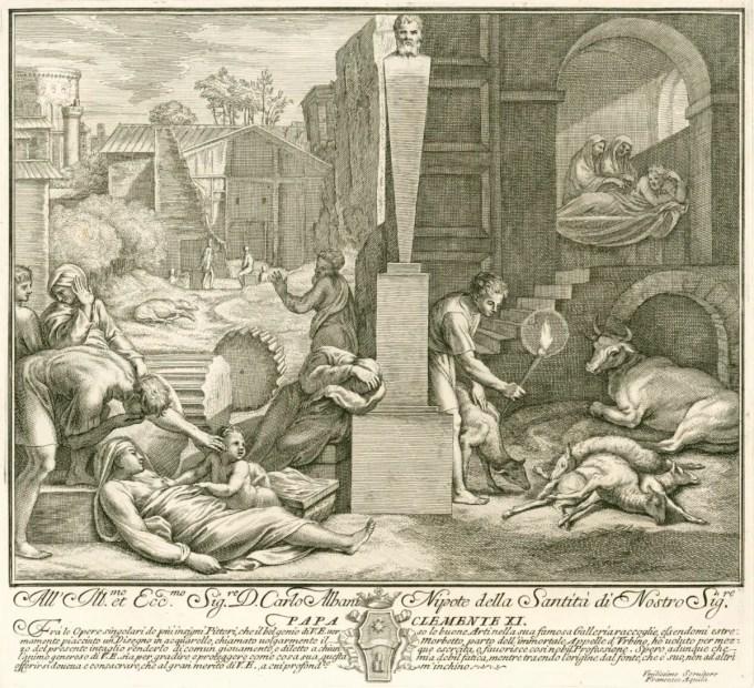 Aquila, Francesco Faraone; Raphael; Plague of Phrygia; The Morbetto