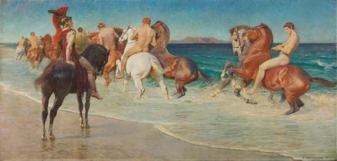 William_Calderon_-_On_the_Sea-Beat_Shore,_Where_Thracians_Tame_Wild_Horses_from_Alexander_Pope,_Homer's_Iliad_-_MU-29_-_Auckland_Art_Gallery