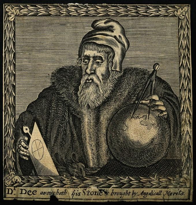 V0001505 John Dee. Line engraving by F. Cleyn, 1658.