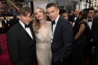 From left to right, Richard Linklater, Julie Delpy e Ethan Hawke