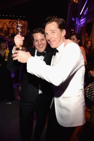 Graham Moore and Benedict Cumberbatch