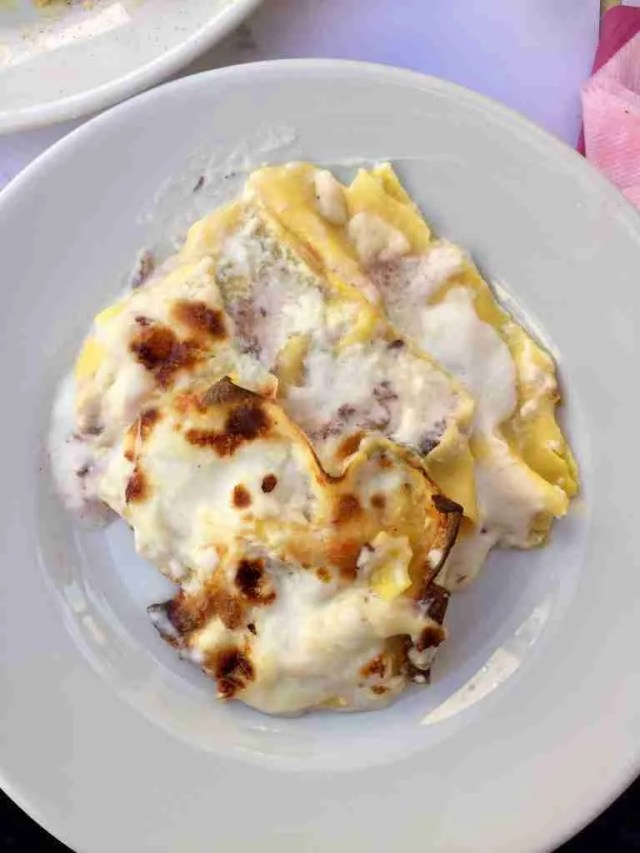Fatta e Mangiata Lasagna bianca scamorza e radicchio